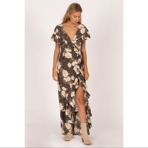 Amuse Society Frill Seeker Dress in Black Sands